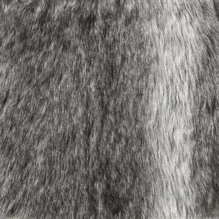 Fuskpäls 155 cm grå