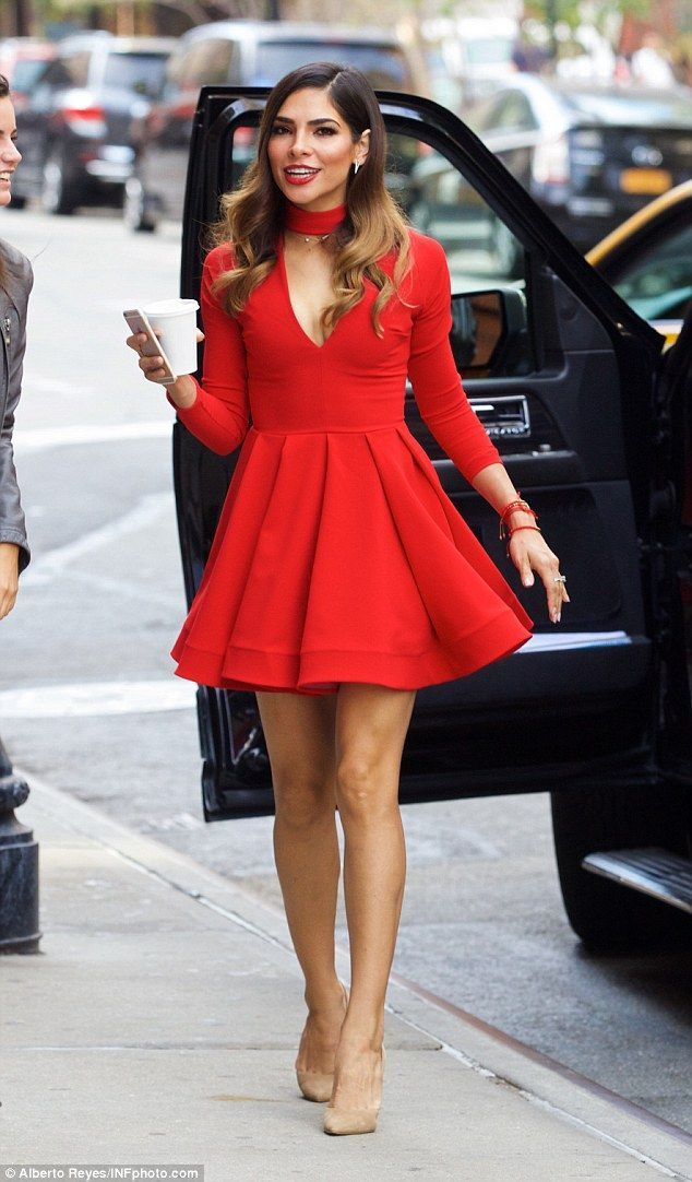 Alejandra Espinoza flaunts fabulous figure in scarlet mini-dress