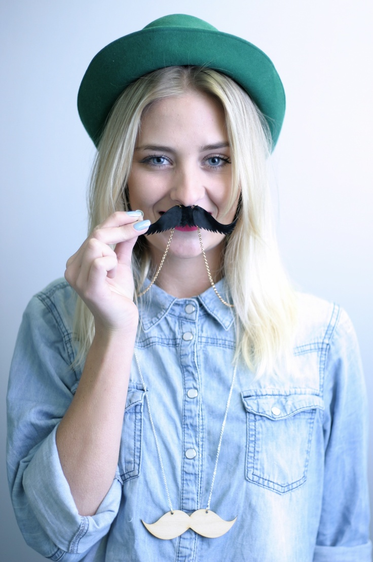 Moustache necklace by One Day Shopp.  Photo by Sophie & Evelien Mulder.