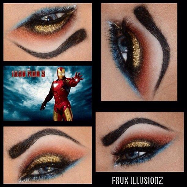 Gorgeous Iron Man using Sugarpill Goldilux, Love+ and Tako. Beautiful color combo, beautiful eyes!
