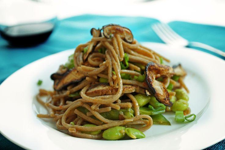 Soba noodles with Edamame - Zesty Basil