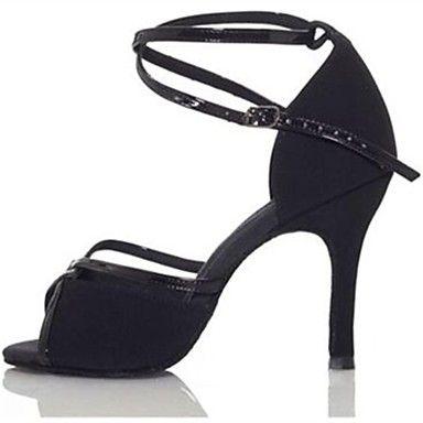 satin cataramă de sus de bal latine pantofi sandale femei (mai multe culori) – USD $ 36.99