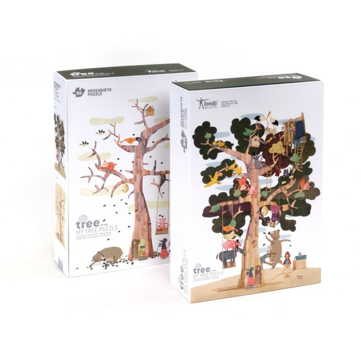 MY TREE PUZZLE by Londji. An amazing puzzle 70 cm. high and REVERSIBLE (spring-autumn)! You can purchase it here: http://www.tatataworld.com/product/my-tree-puzzle