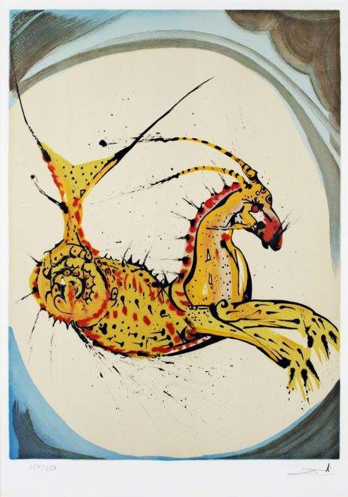 Les signes du zodiaque par Salvador Dali   les 12 signes du zodiaque par salvador dali capricorne