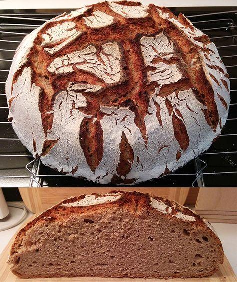 """Mir sagte """"Kärntner Bauernbrot"""" nichts, als ich den Wunsch einer Kursteilnehmerin hörte. Wir haben uns an den Eigenschaften des Brotes abgearbeitet, so wie es ihre Erinnerung hergab. Am Ende des Backtages hatten wir zumindest für ihre Erinnerung einen Volltreffer. Ein 4,5 kg-Laib voller Aromen, feiner Krumenstruktur und tagelang saftiger Krume. Ein fantastisches Brot, egal ob … … Weiterlesen →"""