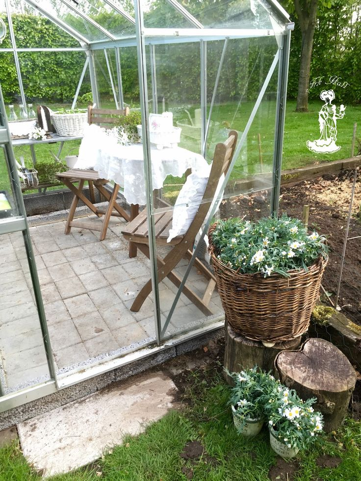 my lovely shabby chic greenhouse, shed in my romantic garden