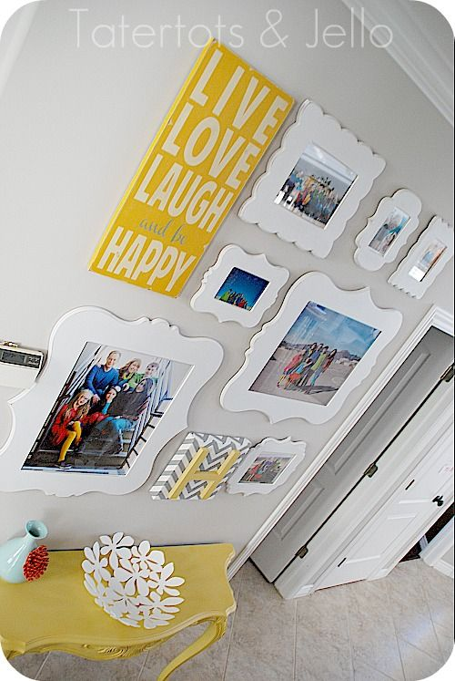 Love the pop of color! They sell these frames at hobby lobby I believe. :) @Ashley Novinger