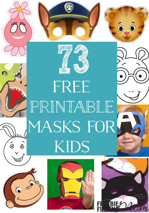 Do your kids love to play dress up and pretend to be a princess or super hero? Here's a fun yet frugal way for them to quickly transform into their favorite character or animal, download these free printable masks for kids. Here you'll find masks for Disney characters, Nick Jr characters, animals and more.