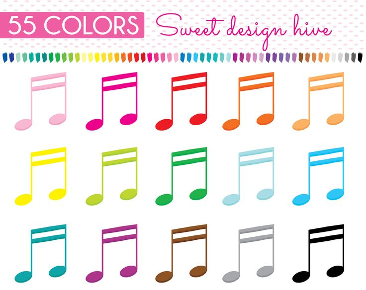 Music note clipart, Sixteenth note clipart, Eighth note clipart, Music Class Clipart, Music Note Png, Music, Planner Stickers, PL0116 by Sweetdesignhive on Etsy
