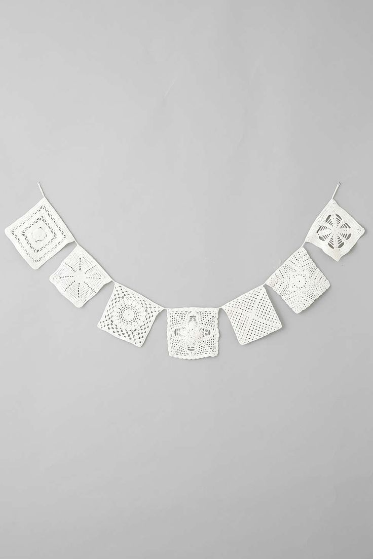 Plum & Bow Lace Doily Banner - Urban Outfitters - $39