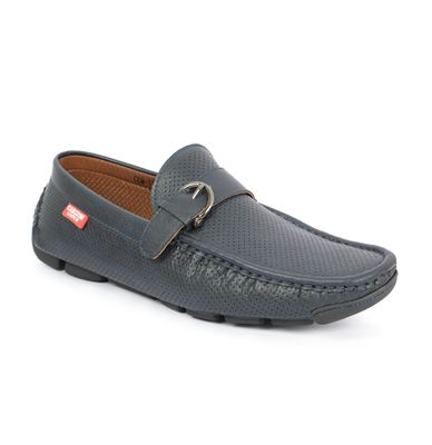 Buy Carlton London Men's Navy Loafer Shoe.