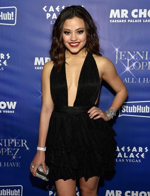 "Sarah Jeffery at ""Jennifer Lopez: All I Have"" After Party at Mr. Chow's (Photo credit: David Becker / WireImage)."