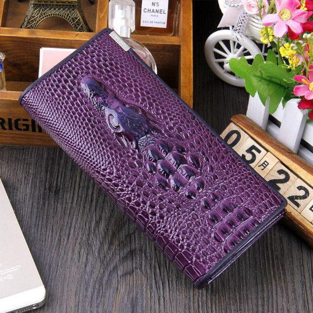 Guarantee Genuine Leather Ladies Women Wallets Purse Long Alligator Wallet Women Elegant Female Women's Wallets Leather Wallet