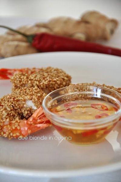 Due bionde in cucina: Gamberi al sesamo con salsa agrodolce