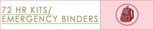 An Emergency Binder is a compilation of important documents.   In the event of an emergency, grab your binder and go with all your documents.  Store your binder in a fireproof/ waterproof locked box that is small enough to be transported with you in an emergency.