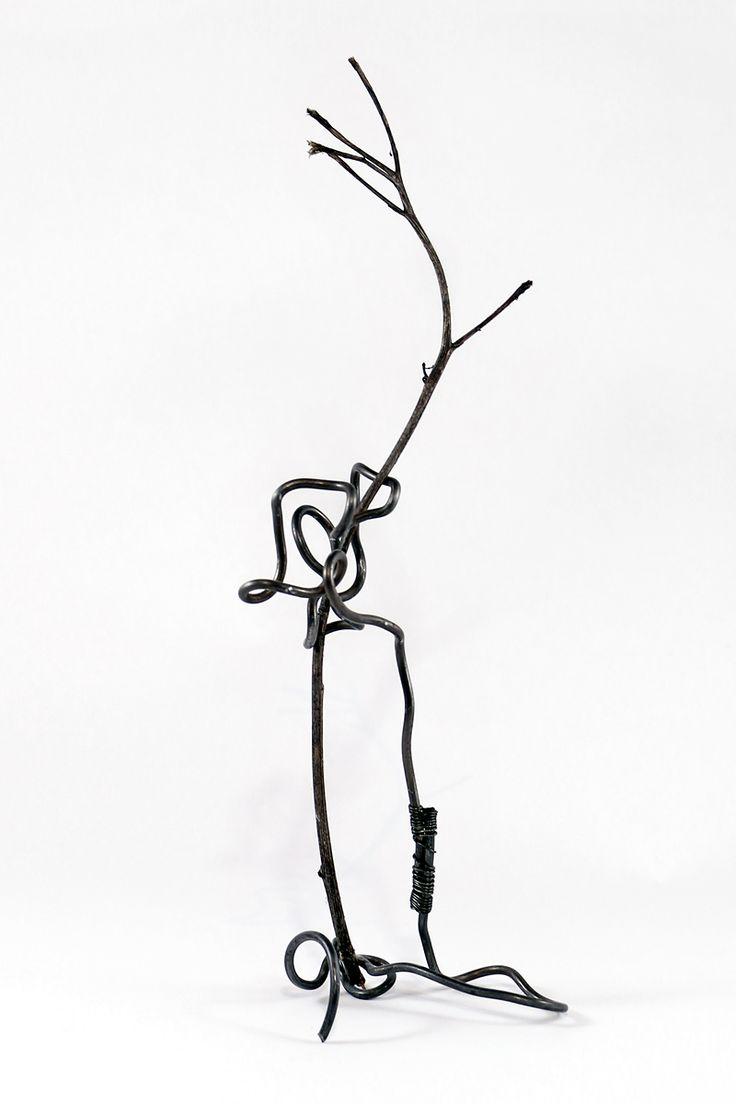 Abstract №4 --- Wire art work (steel, dry stalk) --- #abstract #surreal #surrealism #composition #geometry #installation #wire #art #arts #arte #artsy #artwork #artworks #wireart #forms #sculpture #wirework #handmade #handmadeart #homedecor #artdeco #creative #original #strange #originalwork #originalartwork #metalart