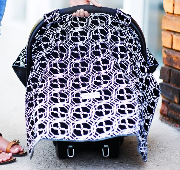 Carseat Canopy Knott The Geometric Unisex Knott Print In Black And