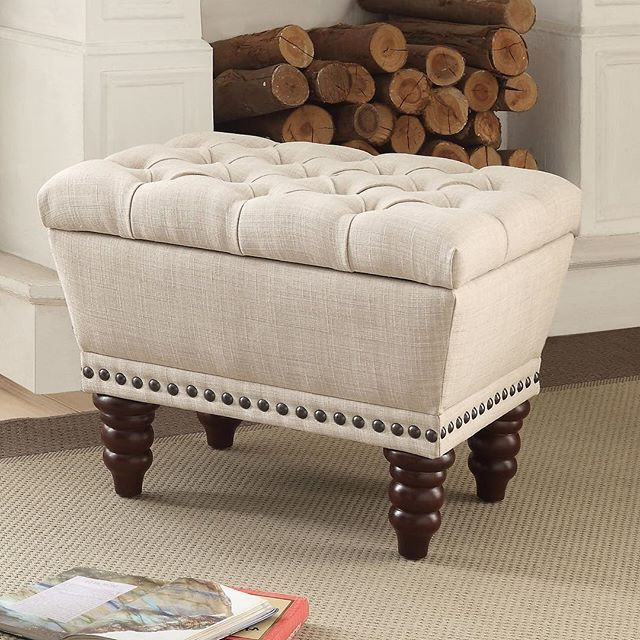 The Hampton single storage bench from !nspire amps us your style while eliminating the clutter. Useful for extra seating or a place to set down a silver drinks tray. Beautiful, functional & affordable  http://worldwidehomefurnishingsinc.com/hampton-single-storage-bench-in-beige.html