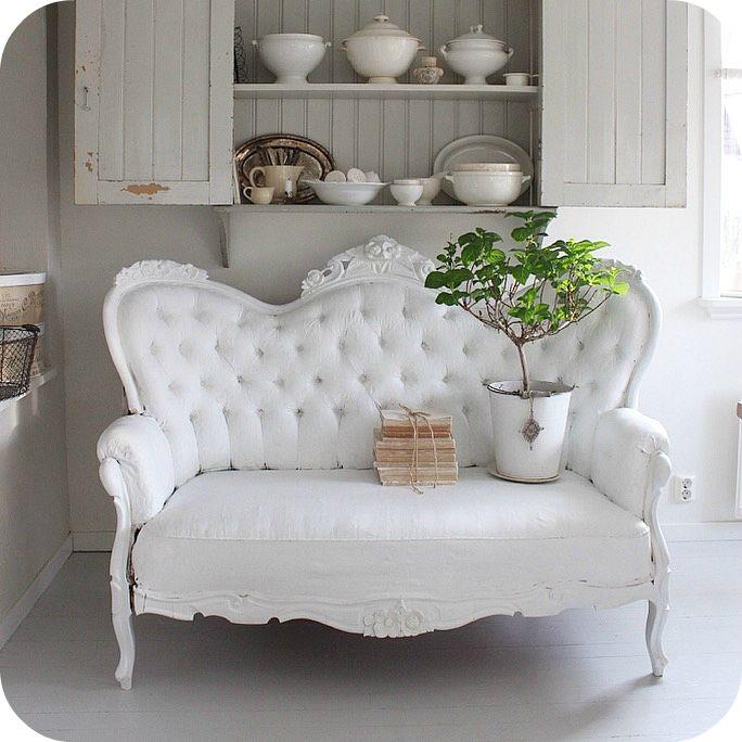 LILLA BLANKA: Viktoriansk soffa ~ Victorian settee