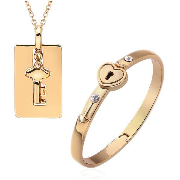 Favourer® ensemble de bijoux, bracelet & collier, alliage de zinc, avec 2lnch chaînes de rallonge, Placage, tour des chaînes à maillons & avec strass, plus de couleurs à choisir, protéger l'environnemen