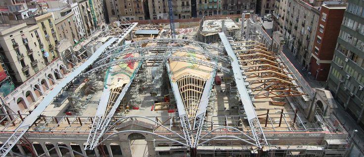 Barcelona s santa caterina market construction process - Project management barcelona ...
