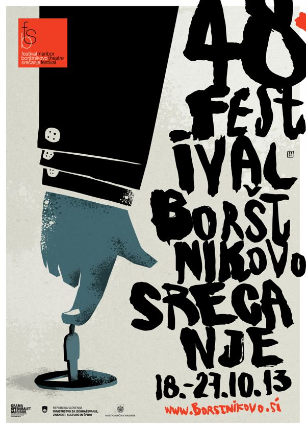 Maribor Theatre Festival by Nenad Cizl, via Behance