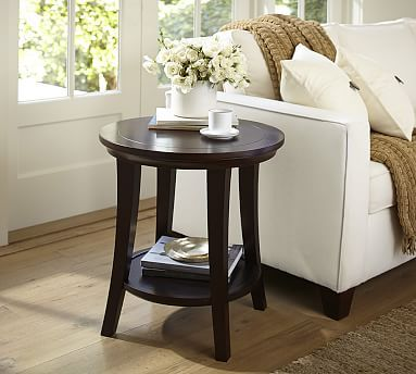 Metropolitan Round Side Table Potterybarn For The Living Room In Espresso