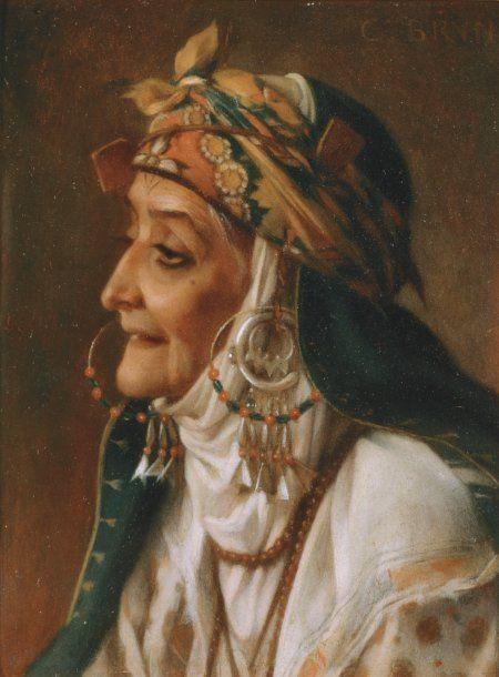 Charles Le Brun 'Portrait d'une Femme Kabyle'
