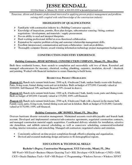 sample handyman resume