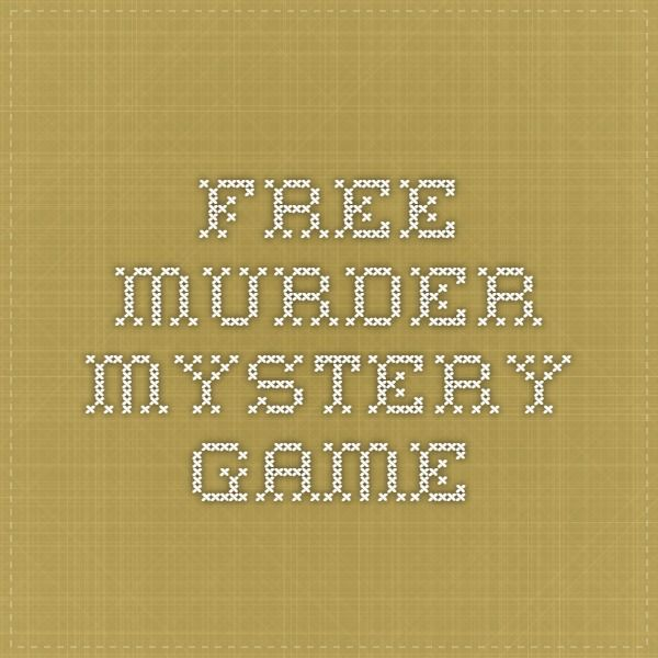free murder mystery game - casino based but easy to change the theme