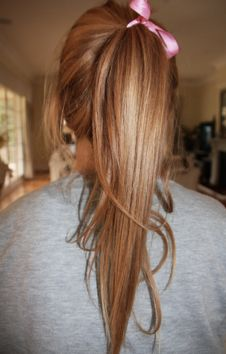 Like the golden carmel color of her hair. Maybe my future hair color?                                                                                                                                                     More