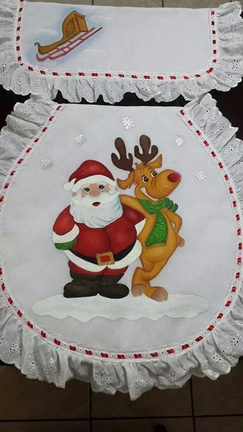 Juegos De Baño Santa Claus:de 1000 ideas sobre Pintura En Tela Navideña en Pinterest