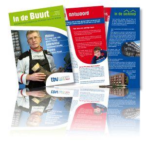 Bewonersmagazine 'In de Buurt' voor TBV Wonen