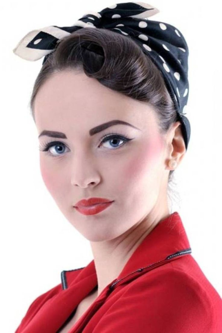 Bandana Pin Up Girl Hairstyles For Long Hair