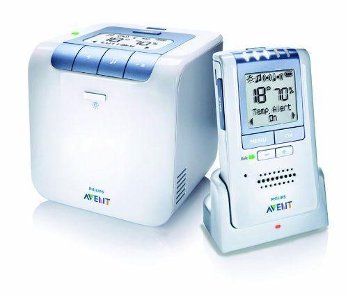 Philips SCD535/00 Avent ECO DECT Babyphone (Temperaturüberwachung, Schlaflieder)weiß, ETM Testmagazin Urteil Sehr Gut (04/12)