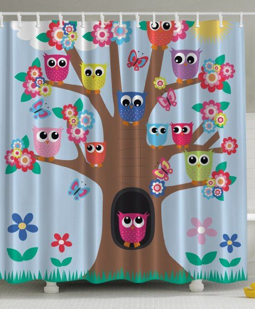Owl Decor Ambesonne Cute Owls On Tree BFF Best Friends Forever Creative  Home Accent Special Amiable