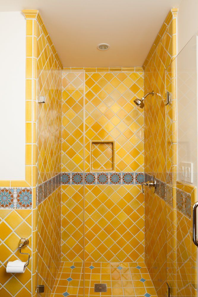 Inspired By Mediterranean And Spanish Architecture, This Warm And Inviting  Bathroom Lets The Sunshine In. Our Colorful Handpainted Designs Trail  Around The ...