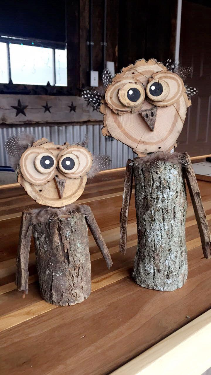 Homemade wooden owls! Just getting started selling these