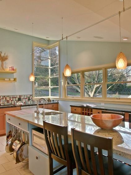 Contemporary Kitchen By David Neiman Architects .....Hang Pots And Pans In