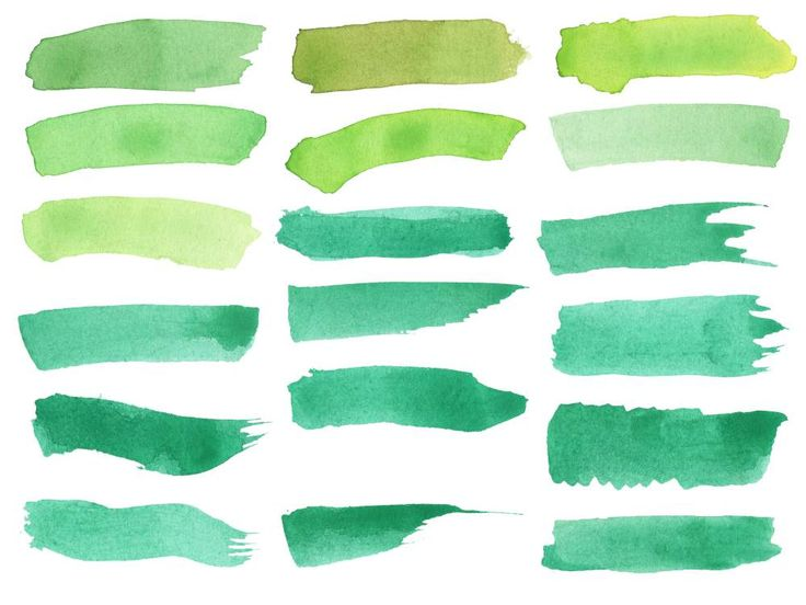 18 Green Watercolor Brush Stroke Banner (PNG Transparent)   OnlyGFX.com