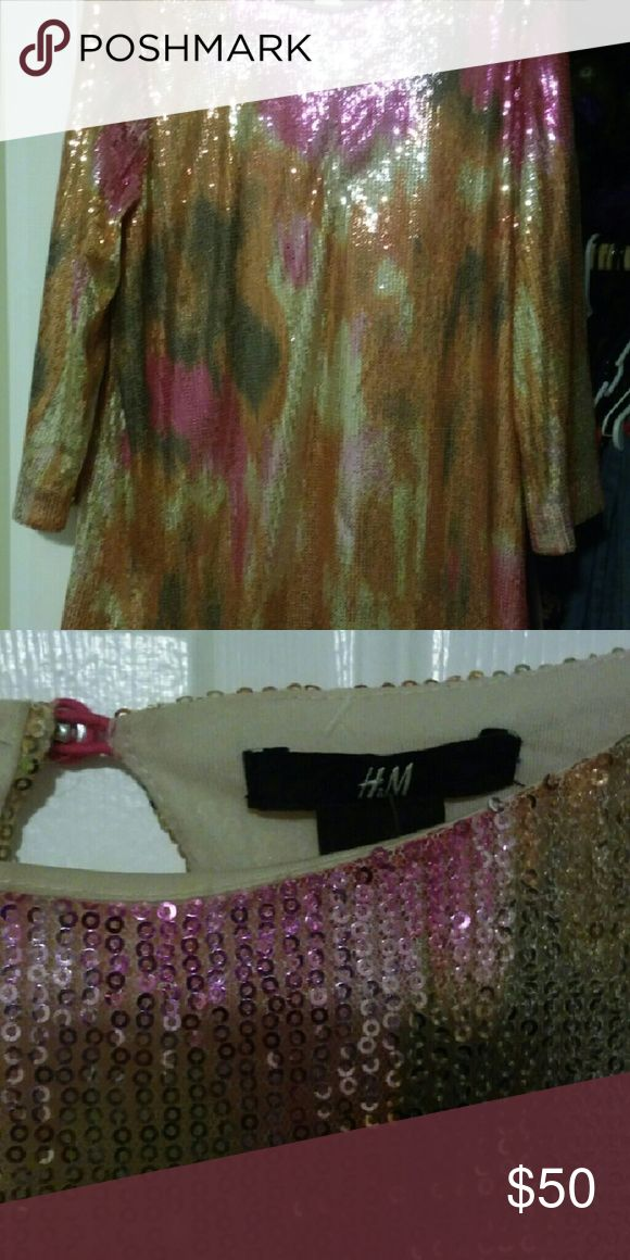 Dress Sequin multi-colored camo dress H&M Dresses Mini