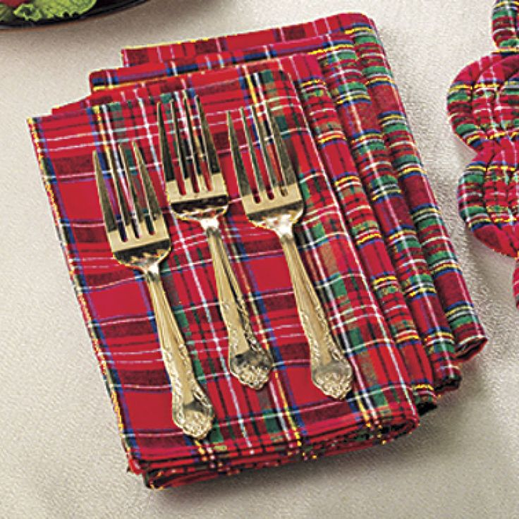 Set of Four Tartan Plaid Napkins - Furniture, Home Decor and Home Furnishings, Home Accessories and Gifts | Expressions
