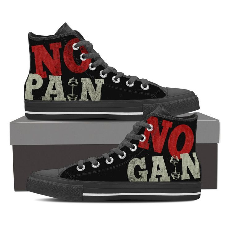 "No pain No gain ""gym shoes for men"""