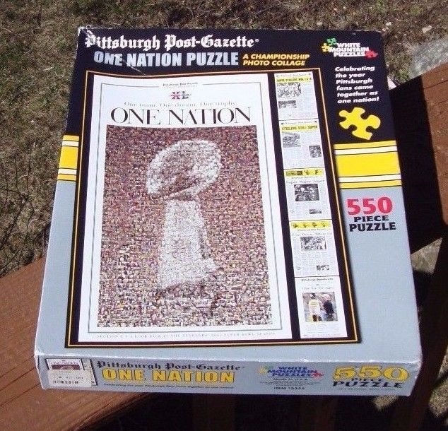 Pittsburgh Steelers Post Gazette One Nation Puzzle 550 Pieces SEALED COMPLETE  #WhiteMountainPuzzles