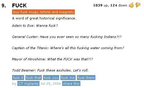 Funny Urban dictionary