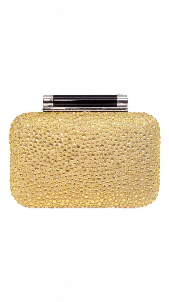 a6a833315 bolso dorado con pedreria para fiesta de diane von furstenberg | New ...