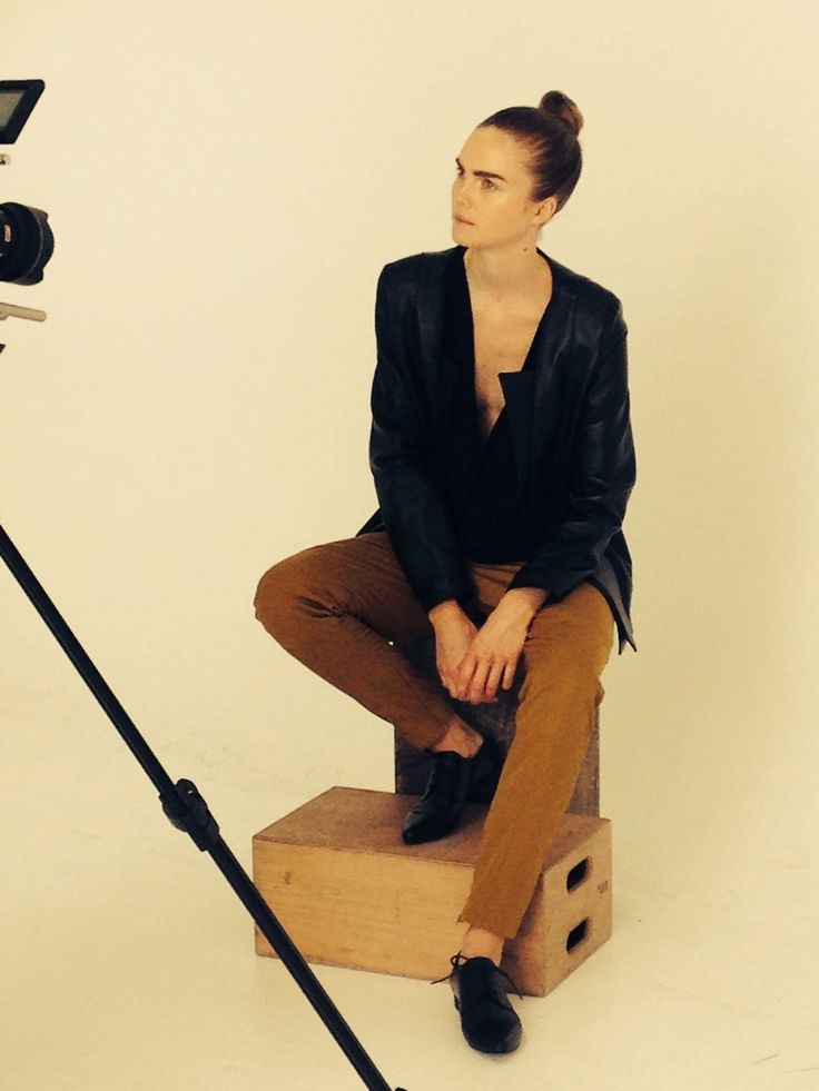 Sitting on a apple box. Exam collection. Fronting. Fashion design Akademiet 2014