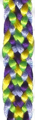 Tutorial :: 8-strand flat kumihimo braid at this link ~ http://www.satincord.com/htm/kumihimo-flat-braid.htm    #handmade #jewelry #braiding