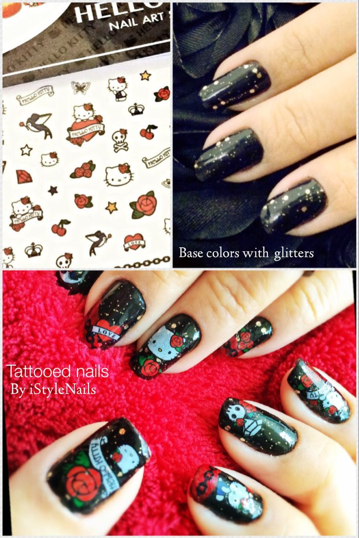 29 best My Nail Art Designs   Shades Of Black images on Pinterest ...
