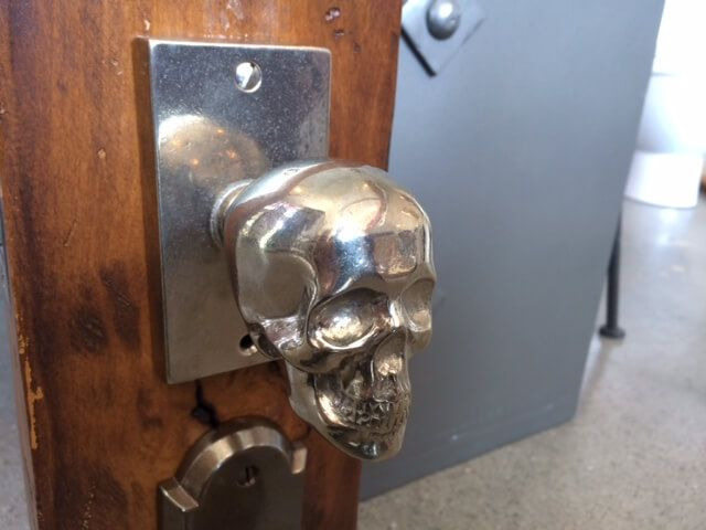 Metal Skull Door Knobs